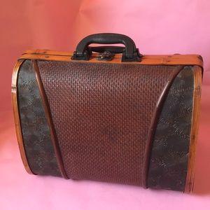 Vintage wooden large bag